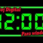 Reloj digital grande para escritorio pc